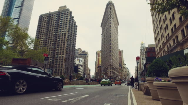 streets of new york city - flatiron building manhattan stock videos and b-roll footage