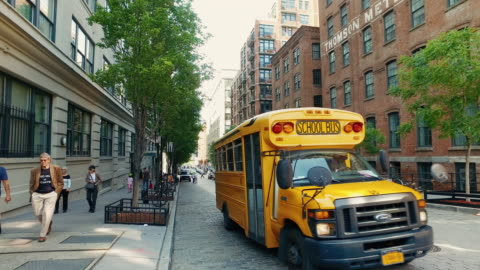 streets of new york city - bus stock videos & royalty-free footage