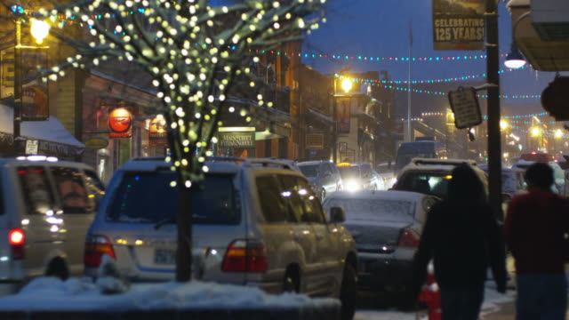 streets of park city at night