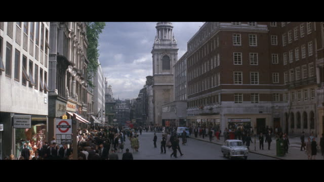 1964 - streets of the city of london - narrow stock videos and b-roll footage