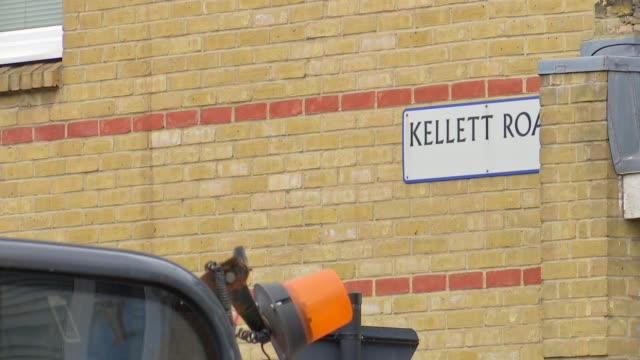 streets scenes in brixton and lambeth town hall gvs england london lambeth brixton ext street sign 'kellett road' / various of streets and houses /... - lambeth stock-videos und b-roll-filmmaterial