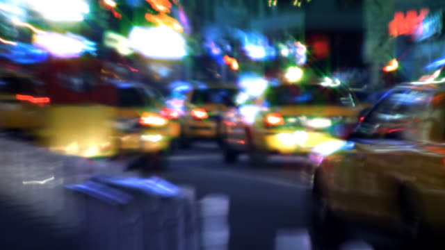 NYC Streets, Taxis, Traffic & People