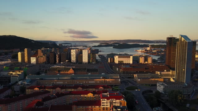 streets, traffic and buildings in norway seen from above - train vehicle stock videos & royalty-free footage