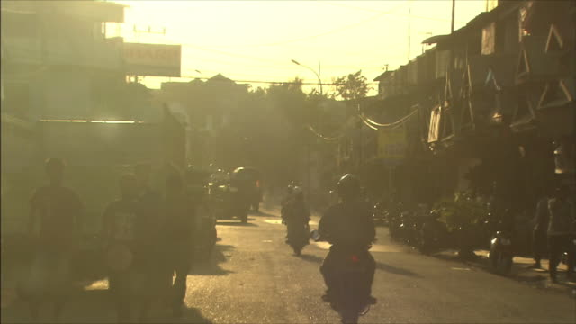 streetscape in indonesia - indonesia street stock videos & royalty-free footage