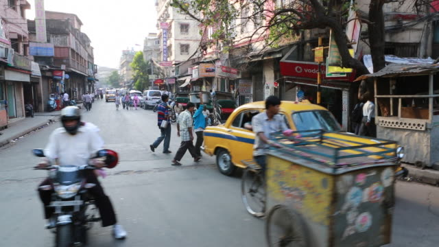 Streetview out of a tram in Kolkata (City of Joy)