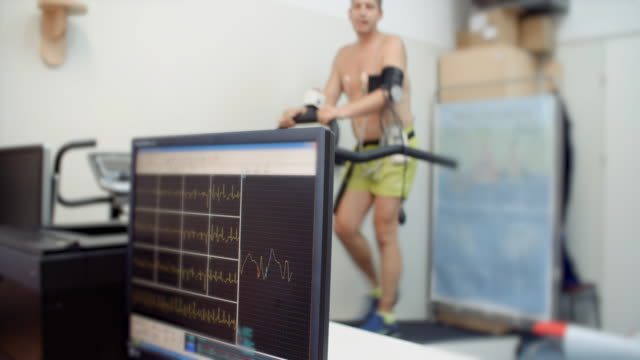 stress test, medical test - pulse trace stock videos & royalty-free footage