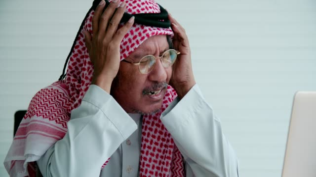 stressed arab businessman - frustration asian failure stock videos & royalty-free footage