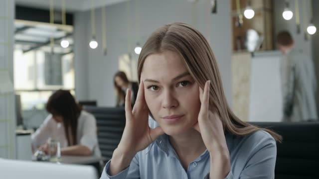 stressed businesswoman - uncertainty stock videos & royalty-free footage