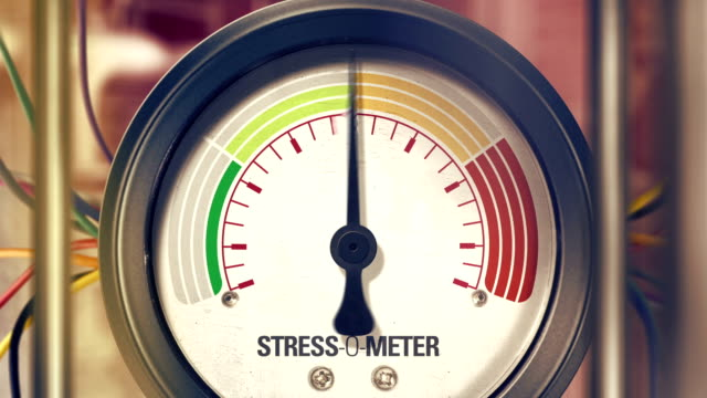 stress-o-meter - emotional stress stock videos and b-roll footage
