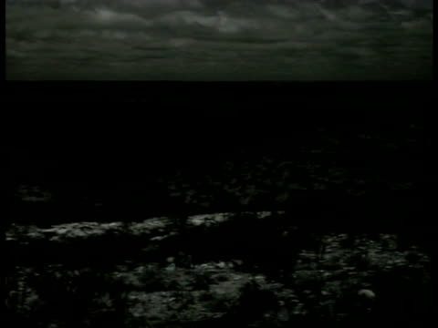 vidéos et rushes de stretch of texas terrain landscape hills mountains fields xws train passing on field trail of smoke countryside - 1941