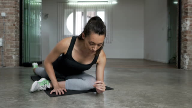 stretching properly - sun salutation stock videos and b-roll footage
