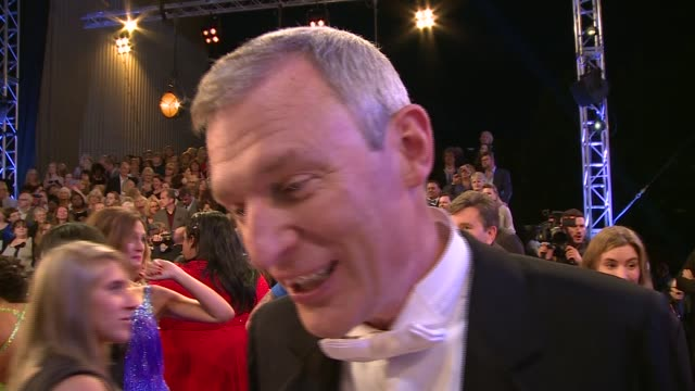 strictly come dancing 2015 launch jeremy vine interview sot / anthony ogogo interview sot - vine stock videos and b-roll footage