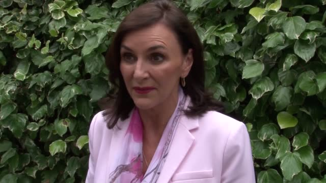 """strictly judge shirley ballas say she is excited about the """"diverse"""" line up on the show this year. the judge was speaking as she met breast cancer... - ストリクトリーカムダンシング点の映像素材/bロール"""