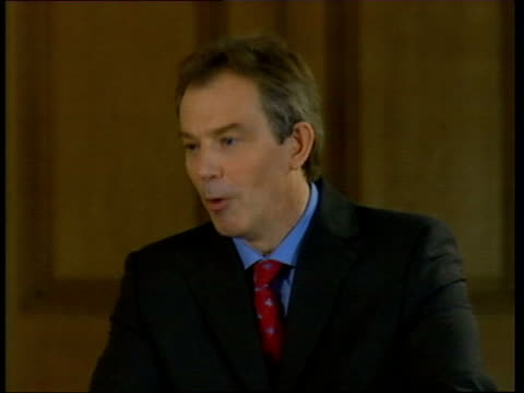 blair/brown speeches: events; bbc pool prime minister tony blair mp speech sot - anything that the employers and the unions negotiate has got to be... - trade union stock videos & royalty-free footage