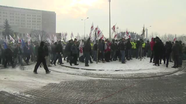 strike in jastrzebie-zdroj - trade union stock videos & royalty-free footage