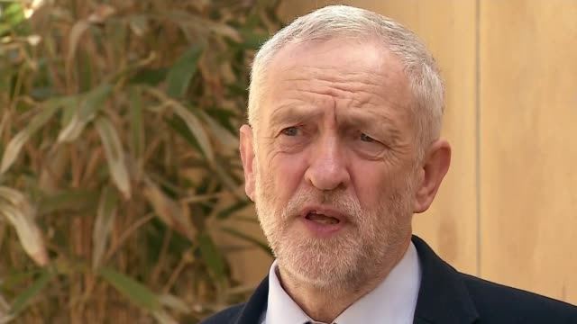 reaction us strike on syrian airbase reaction london ext jeremy corbyn mp sot we think it should have been authorized by the un if there was to be an... - ceasefire stock videos and b-roll footage