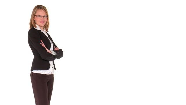 vidéos et rushes de hd : superbe une posture - fond blanc