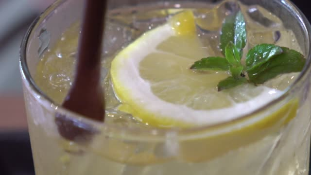 string lemon juice - mint leaf culinary stock videos and b-roll footage