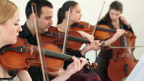 vídeos y material grabado en eventos de stock de cuarteto de cuerda - cuatro personas