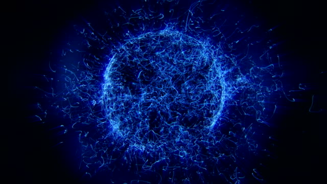vídeos de stock e filmes b-roll de string sphere - bola de plasma