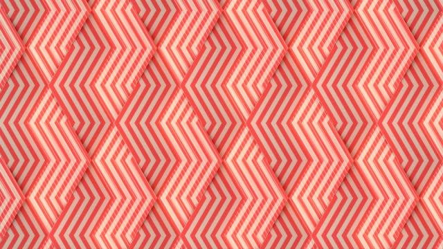 striped geometric pattern in abstract style digital seamless loop animation background. 3d rendering. 4k, ultra hd resolution - simplicity stock videos & royalty-free footage