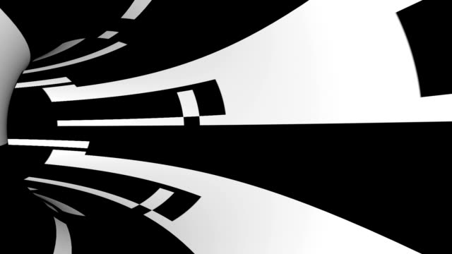 striped tunnel (loopable) animation - eternity stock videos & royalty-free footage