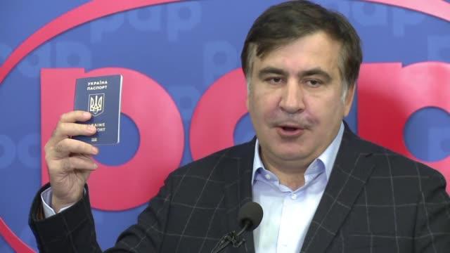 Stripped of his Ukrainian citizenship by President Petro Poroshenko exiled former Georgian president Mikheil Saakashvili says he is not afraid of...