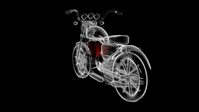 4 stroke bike model rotating