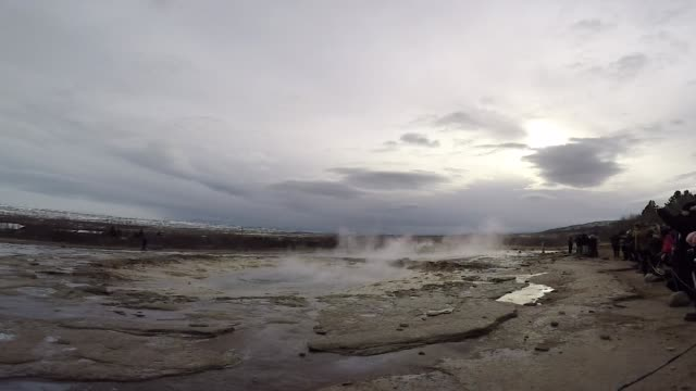strokkur geyser iceland erupting - blowhole stock videos & royalty-free footage