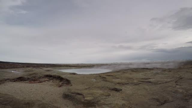 strokkur geyser iceland erupting - geyser stock videos & royalty-free footage