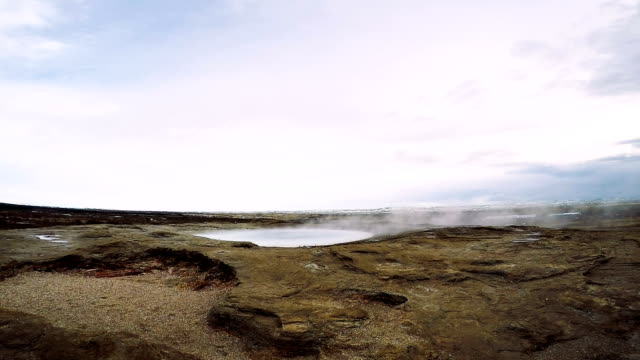 strokkur geyser iceland erupting - geyser stock videos and b-roll footage