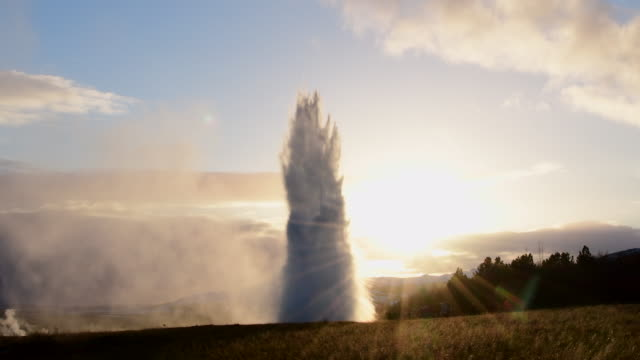 strokkur geysir, iceland - geyser stock videos and b-roll footage