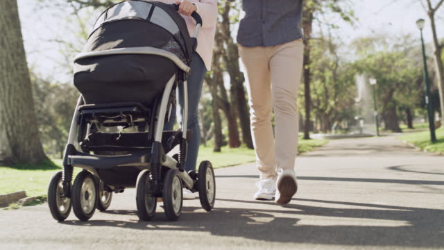 strolls in the park make for a perfect family outing - carriage stock videos & royalty-free footage