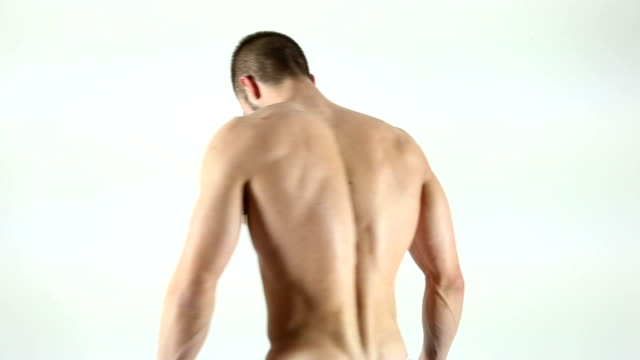 strong back - flexing muscles stock videos & royalty-free footage