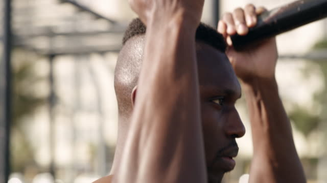 strong enough to lift himself up - self discipline stock videos and b-roll footage