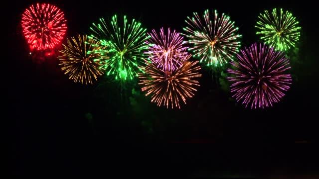 強い花火は音を含んでいた。 - 花火大会点の映像素材/bロール