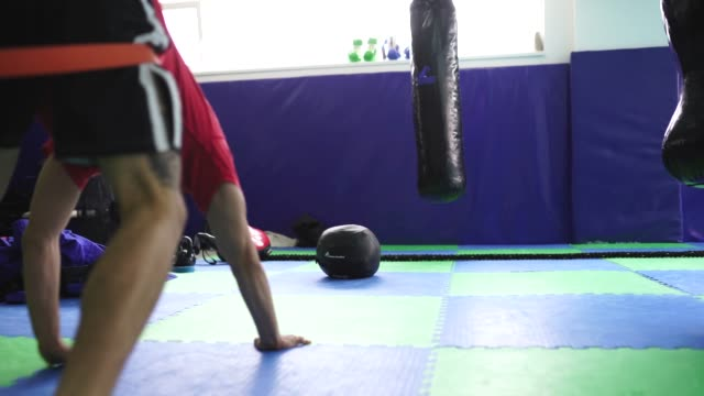 strong man on strength training - wrestling stock videos and b-roll footage