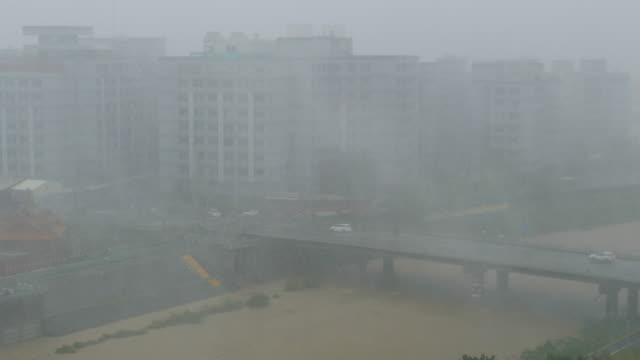 Strong Typhoon Hitting Taiwan