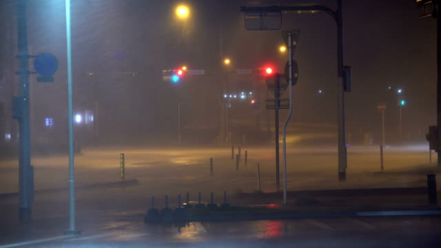 strong winds and rain hit miyazaki city japan as typhoon francisco makes landfall in august 2019 - town stock videos & royalty-free footage