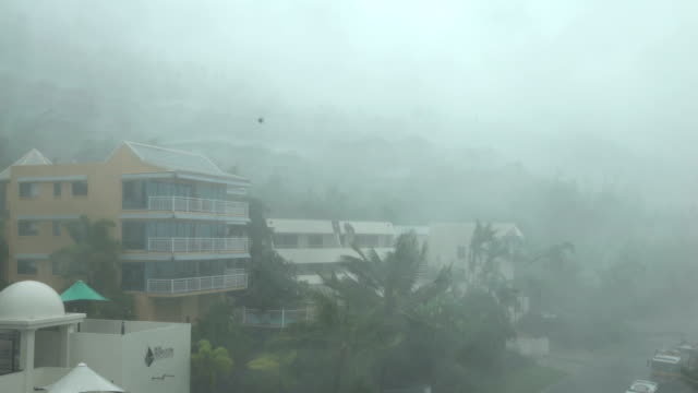 strong winds and torrential rain lash northern queensland as cyclone debbie makes landfall - flood stock videos & royalty-free footage