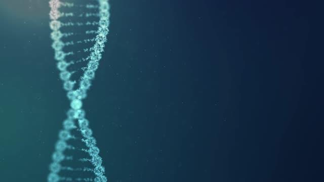 科学技術の構造 dna スピン未来デジタル背景、抽象的な背景 - らせん点の映像素材/bロール