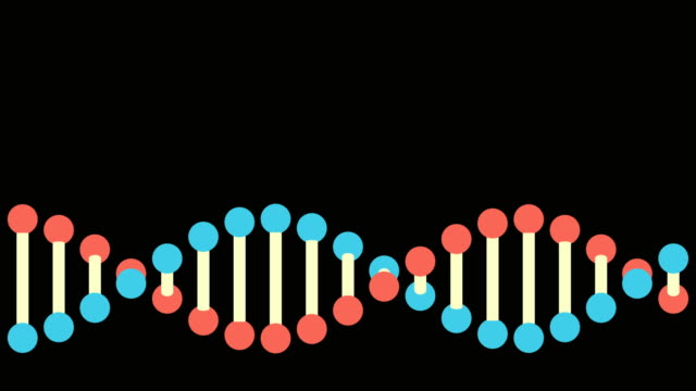 4k dna structure - loopable - dna video stock e b–roll