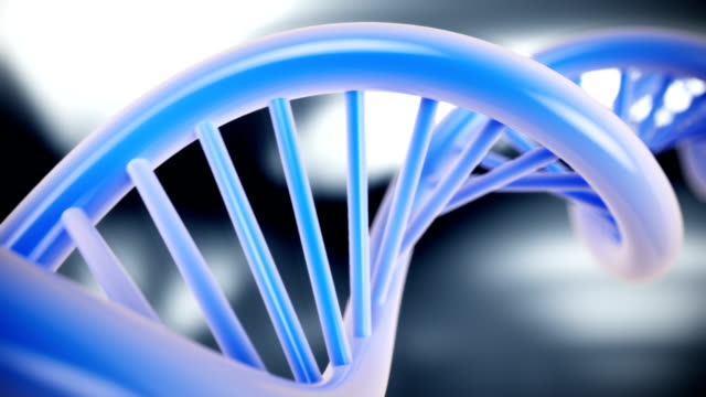 dna structure model on abstract background. cg hd - helix model stock videos & royalty-free footage