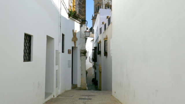 structures of arcos de la frontera in spain - andalucia stock videos & royalty-free footage
