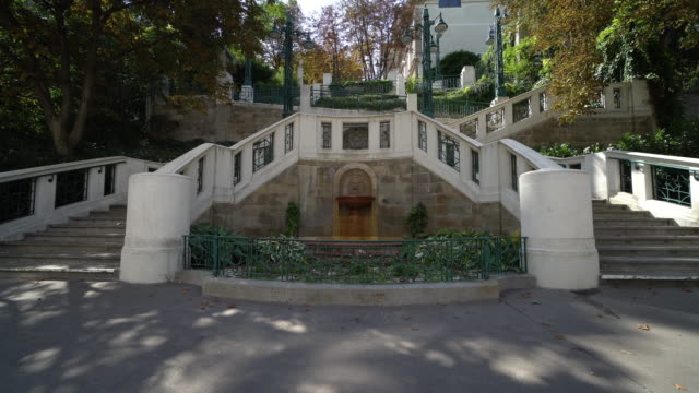 strudlhofstiege, famous outdoor staircase in vienna - vienna austria stock videos & royalty-free footage