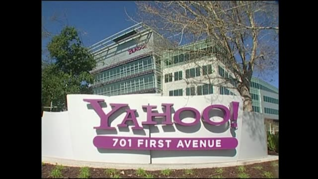 struggling us internet firm yahoo said wednesday it would slash some 2000 jobs in a sweeping restructuring aimed at building a smaller nimbler more... - yahoo brand name stock videos & royalty-free footage