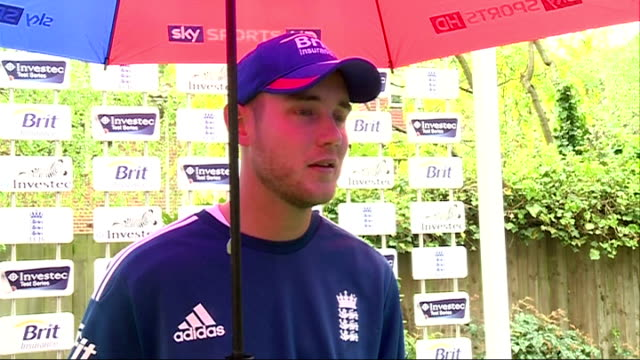 Stuart Broad interview and England training More Stuart Broad interview SOT / Broad speaking to press / General views of England cricketers net...