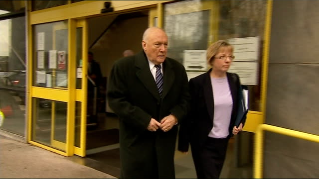 stuart hall sentenced to 15 months in jail for indecent assaults t07011325 / 712013 stuart hall leaving court with solicitor - 司会者 スチュアート・ホール点の映像素材/bロール