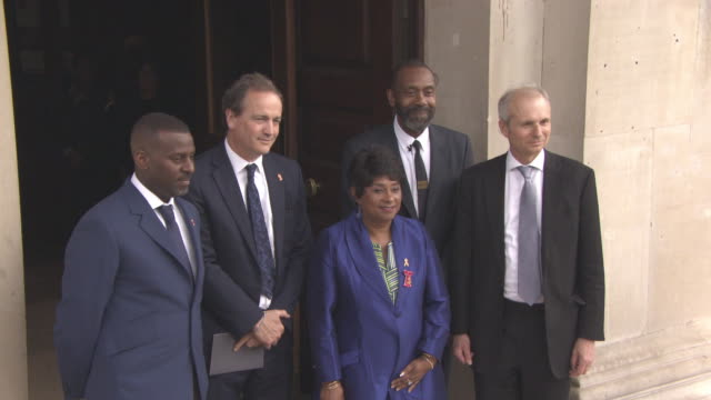 stuart lawrence, doreen lawrence and sir lenny henry at 25th anniversary stephen lawrence memorial service on april 23, 2018 in london, england. - lenny henry stock videos & royalty-free footage