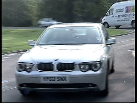 stuart lubbock death inquest records open verdict; lib england: essex: epping: ext car carrying tv entertainer michael barrymore towards past as... - michael barrymore stock-videos und b-roll-filmmaterial
